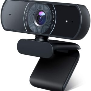 Roffie 1080P Webcam, Dual Built-in Microphones, Full HD Video Camera for Computers PC Laptop