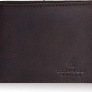 Clifton Heritage Leather Wallets for Men with RFID Blocking – Bifold Stylish Slim Wallet Front Pocket Wallet
